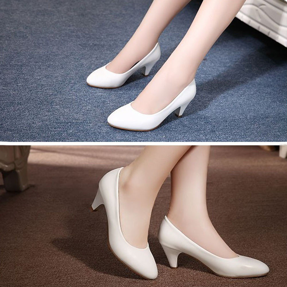 a8f9cbd13a0c8 Spring Summer Elegant Ladies Pumps Shallow Mouth Low Heel Business Shoes  Women