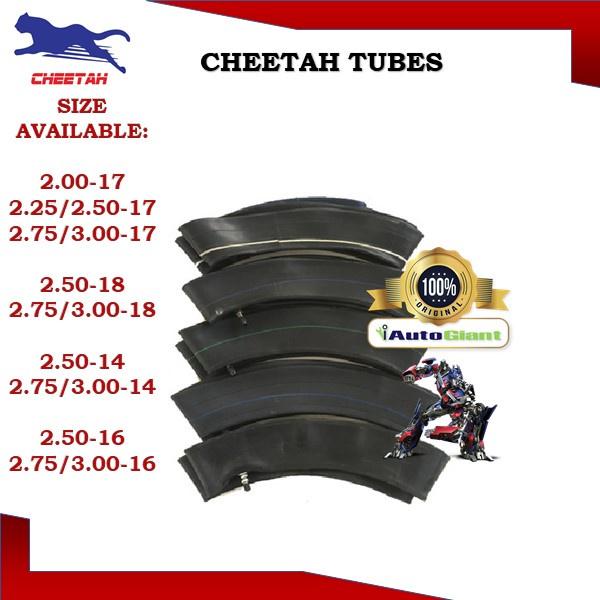 CHEETAH MOTORCYCLE TUBES (100% ORIGINAL)