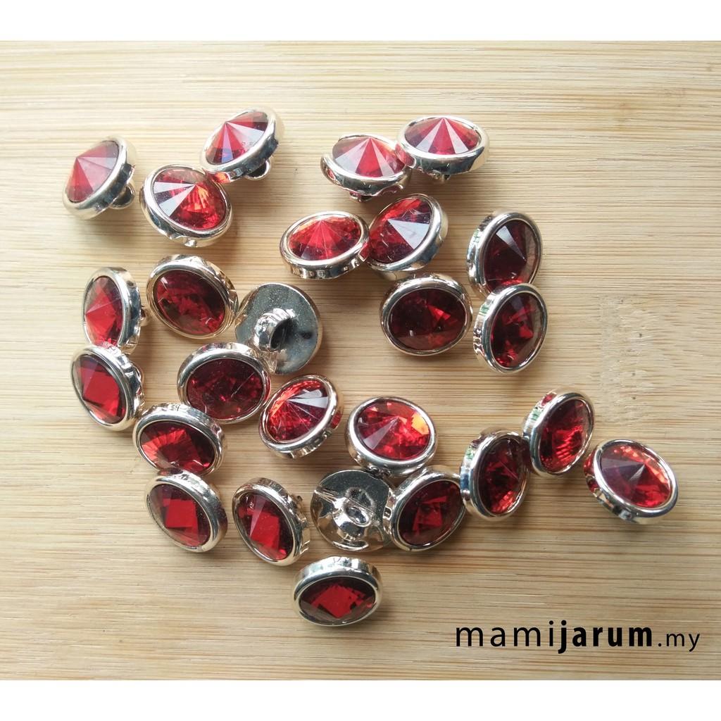 Butang Diamond (glass) (baju melayu/kurta/baju kurung) - BUT012