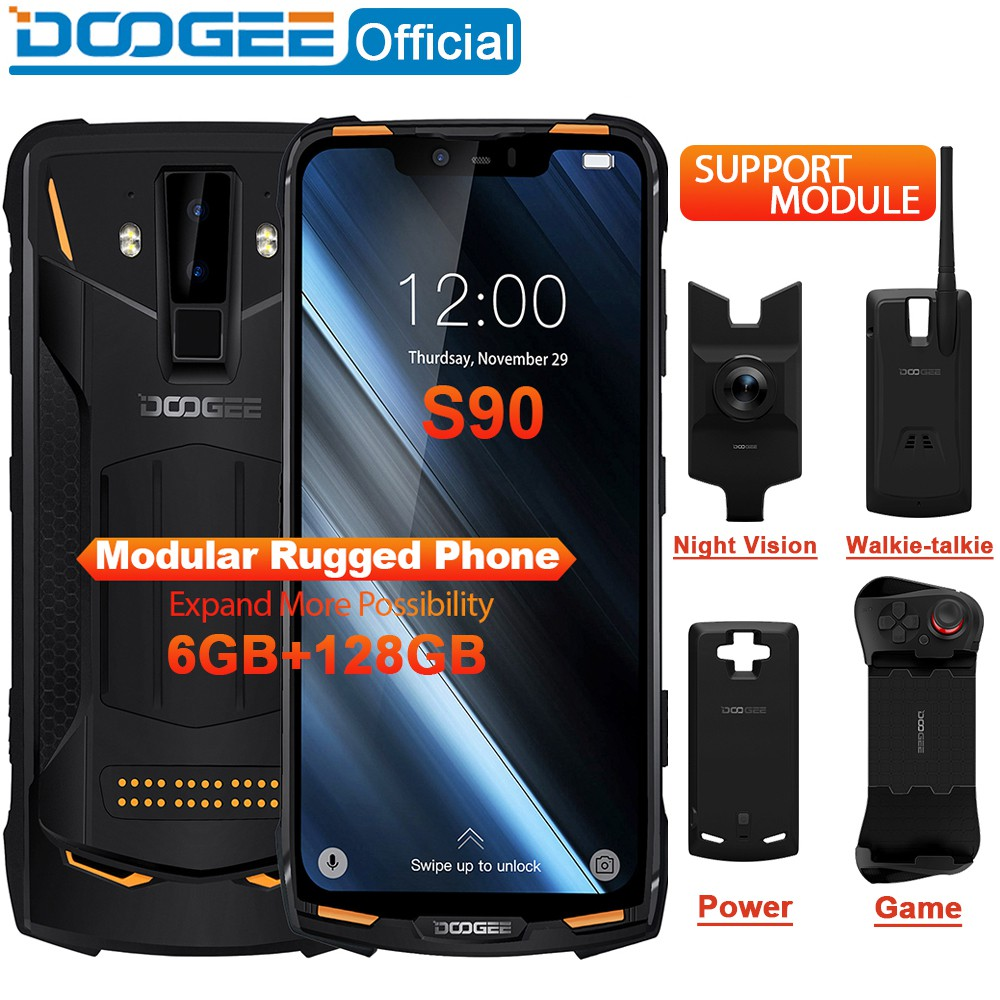 Spot IP68/IP69K DOOGEE S90 Modular Rugged Mobile Phone 6 18inch Display  6+128GB