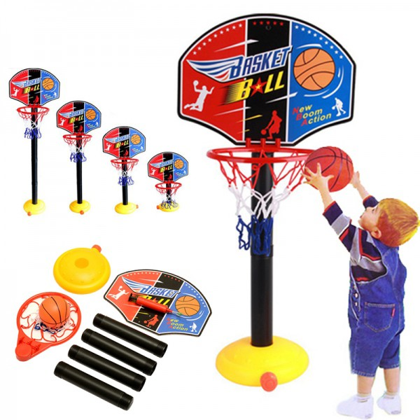 ADJUSTABLE BASKETBALL STAND GAME SET