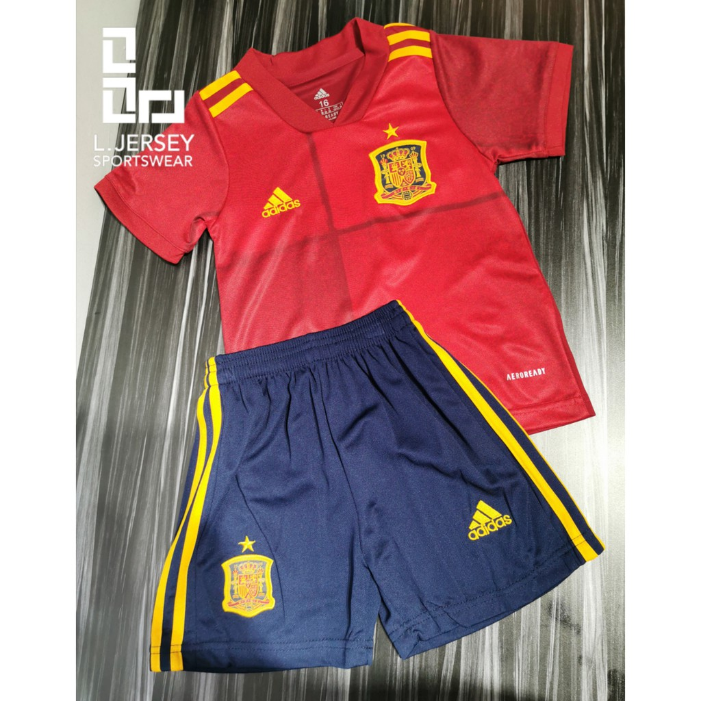 Spain Kids Home Euro Cup Season 20/21 CLIMALITE Fans Jersey