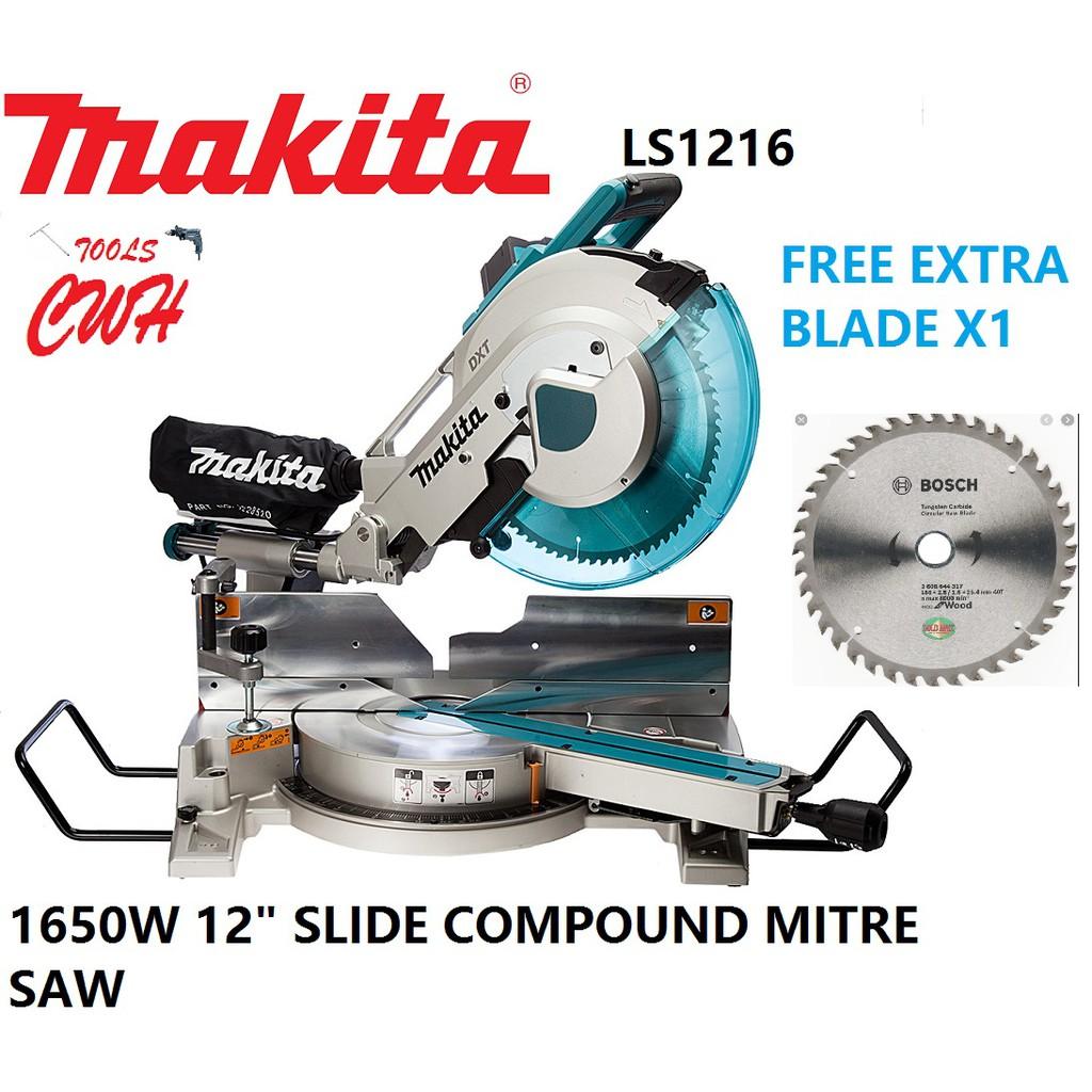 MAKITA LS1216 1650W 305MM (12″) – SLIDE COMPOUND MITER SAW MITRE SAW CUTTER LS 1216