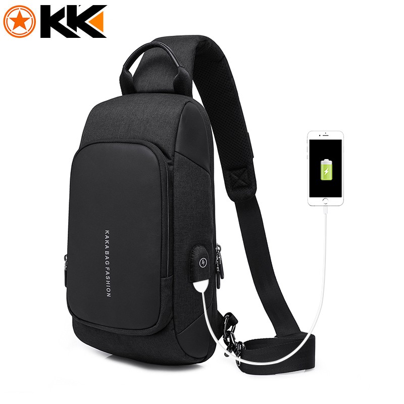 4f2960664 KAKA 2019 Luxury Chest Bag USB Messenger Crossbody Bags Men Shoulder Sling  Bag | Shopee Malaysia