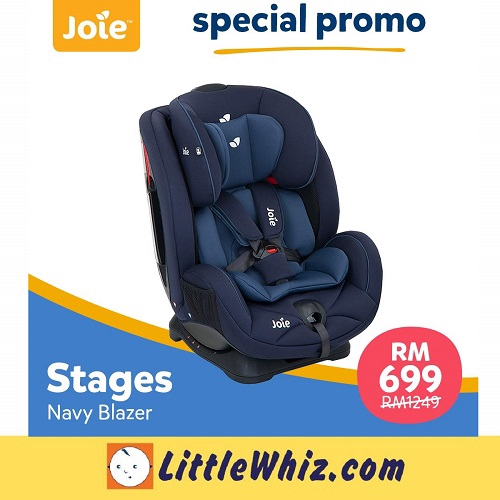 Joie: Stages Convertible Car Seat - NAVY BLAZER (1 TO 1 CRASH EXCHANGE)
