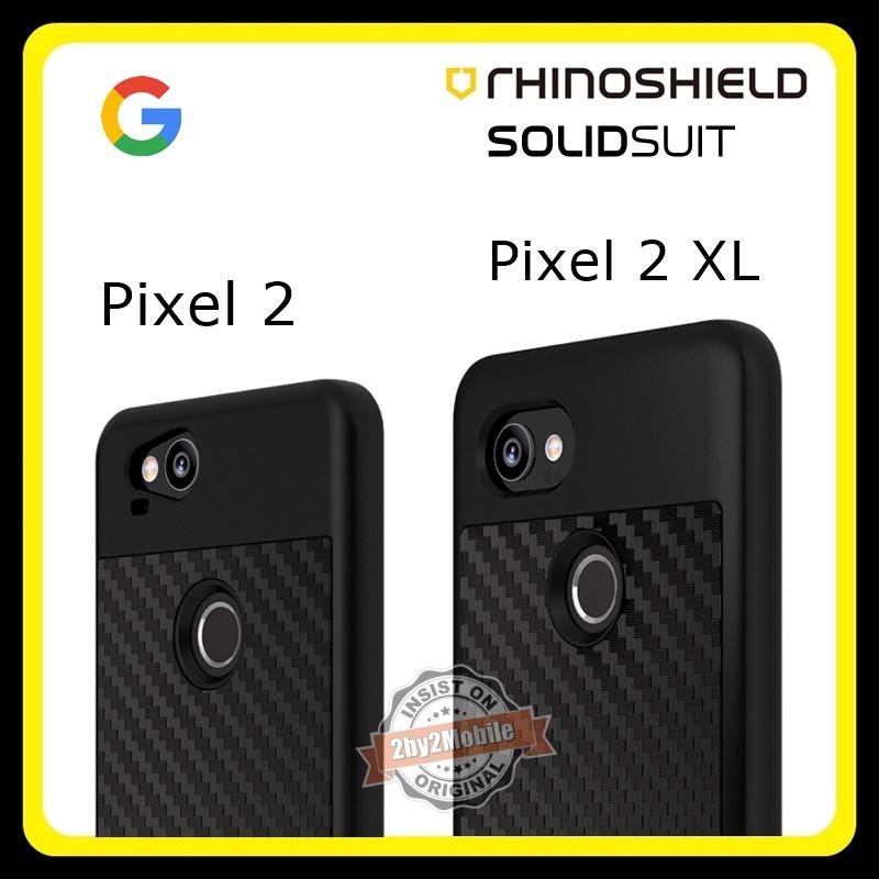 size 40 f600c 1be5c Original RhinoShield SolidSuit Carbon Fiber Google Pixel 2 Pixel 2 XL case
