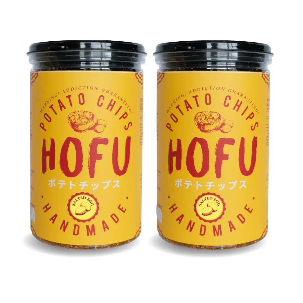 [Original] Hofu Salted Egg Potato Chips (Thick-Cut) Twin Pack [160g x 2 bottles] 黄金咸蛋薯片