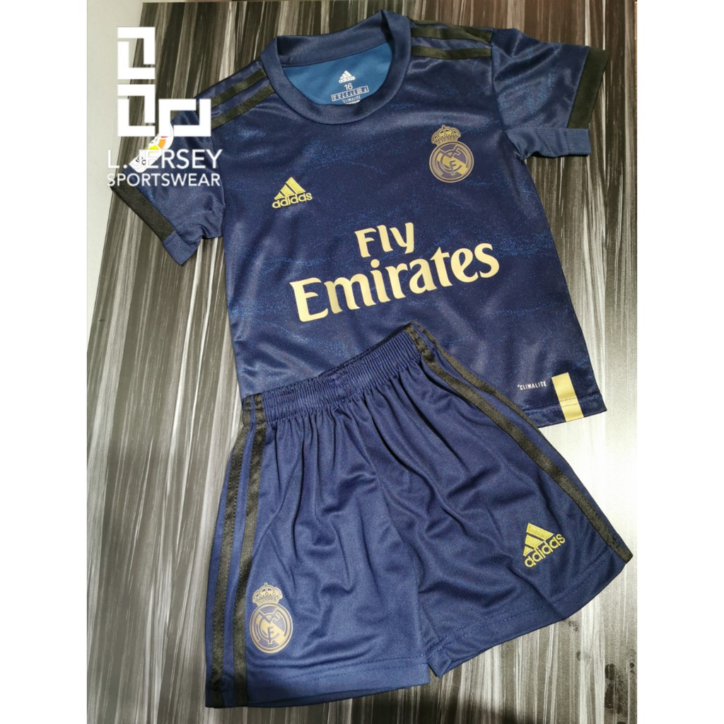 Real Madrid Kid Away Season 19/20 CLIMALITE Fans Jersey