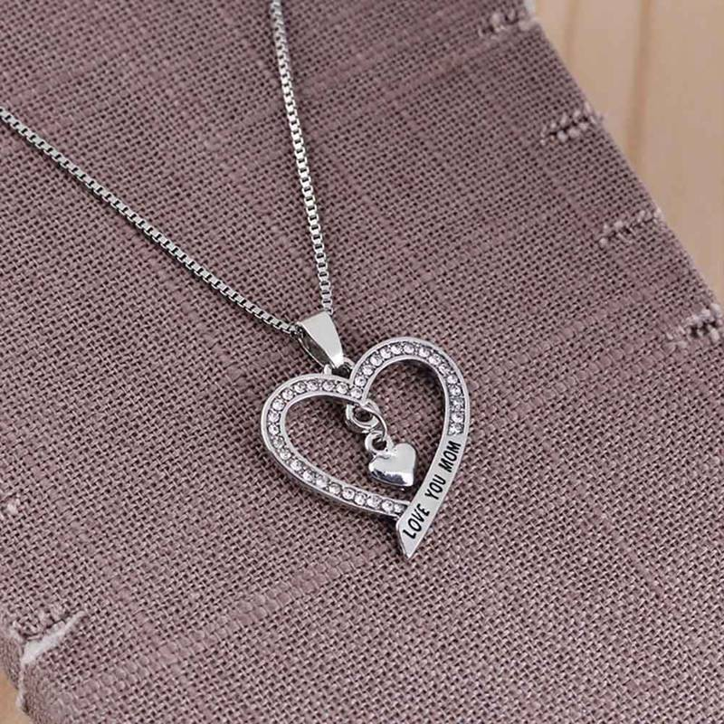 Newest Love Heart Treble Clef Music Note Elegant Silver Plated Pendant NecklaceX