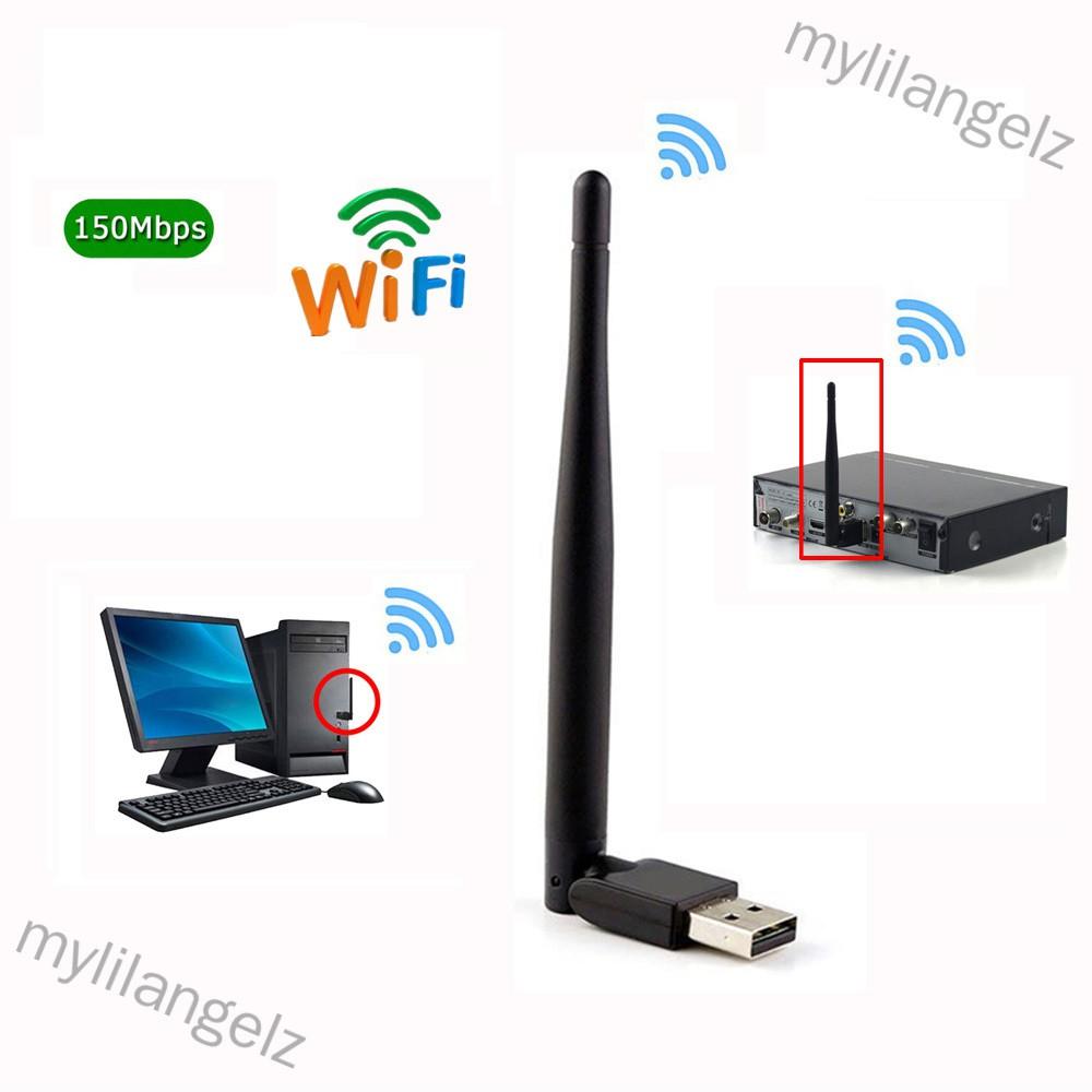 Mylilangelz Mini Wireless Wifi 7601 2.4Ghz Wifi Adapter for DVB-T2 & S2 TV BOX Antenna Network LAN Card (READY STOCK)