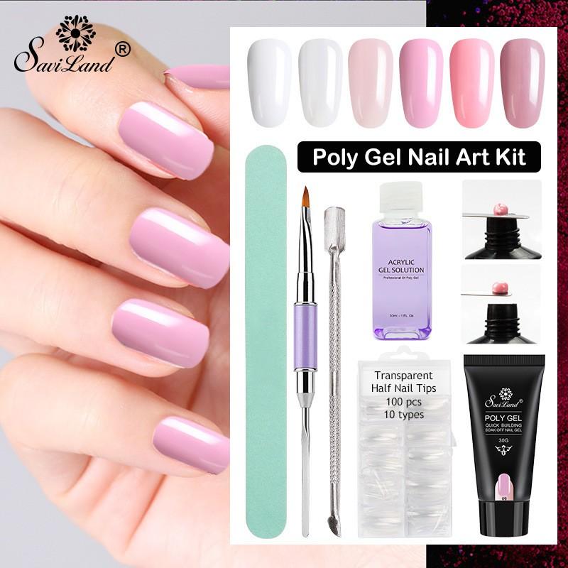Bc Nail Tips Extension Gel Art Uv Builder Glue Manicure Set Kit Sho Malaysia
