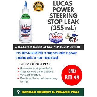 Lucas Power Steering Stop Leak (12oz / 355ml) | Shopee Malaysia