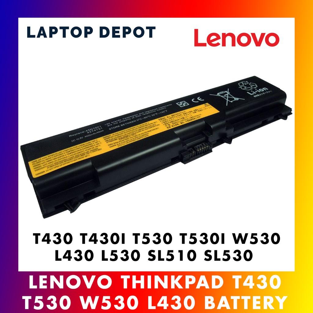 Lenovo Thinkpad T430 T430I T530 T530I W530 L430 L530 L510 SL530 Battery