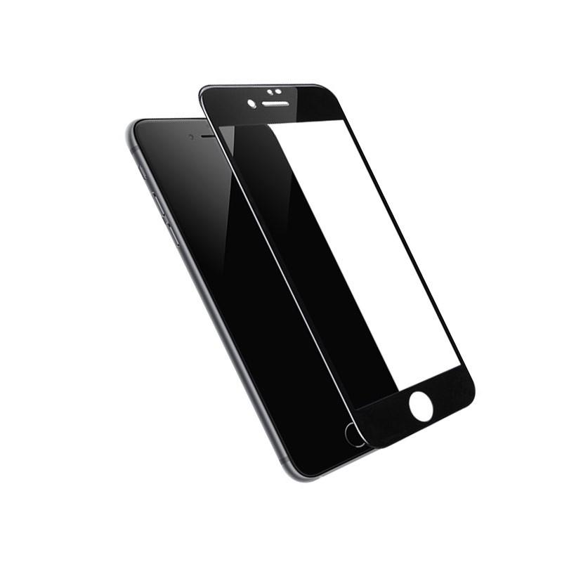 PREMIUM FULL SCREEN APPLE IPHONE TEMPERED GLASS FULL COVERAGE ANTI SCRATCHES XS MAX XR 7 PLUS 8 PLUS BLACK WHITE 6 PLUS