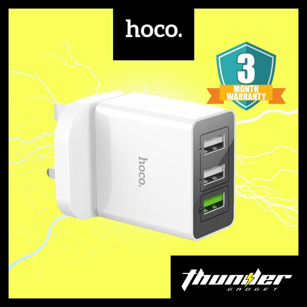 HOCO  C48 BREAKTHROUGH QC3.0 THREE PORTS CHARGER