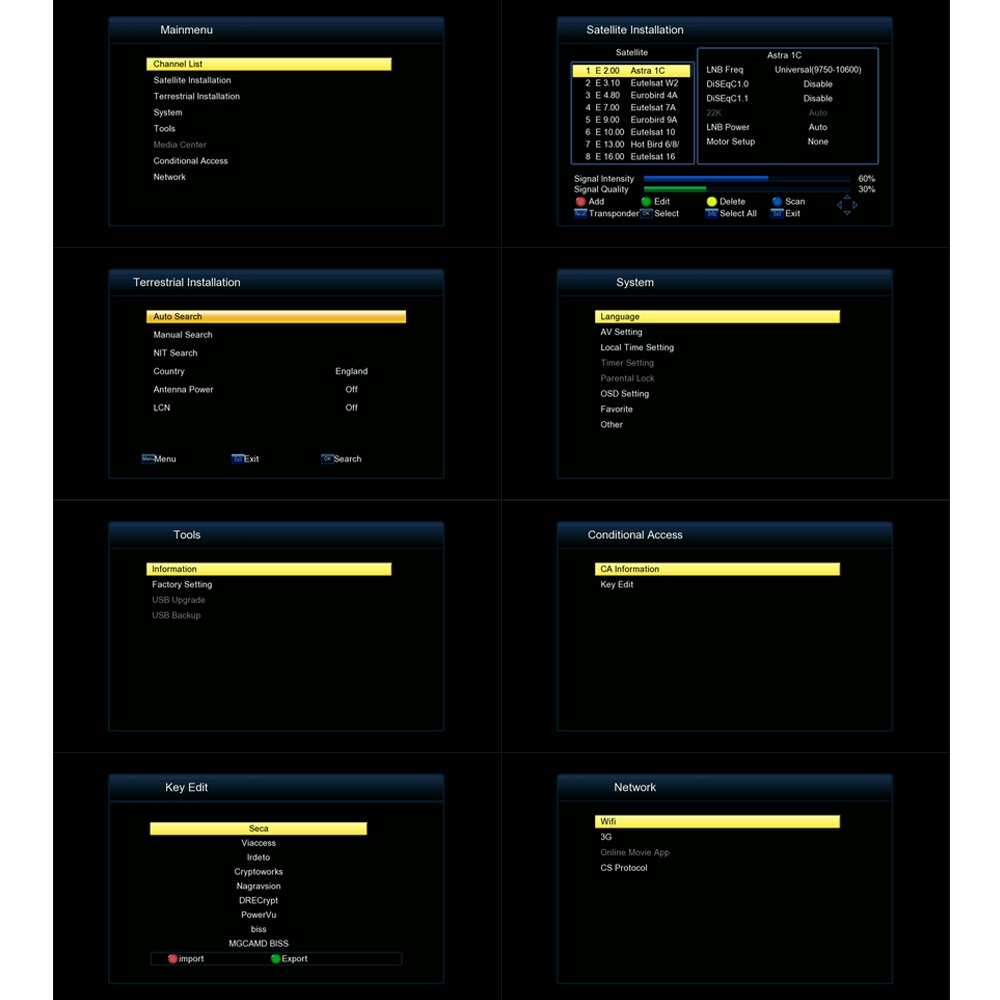 Freesat COMBO HD DVB-S2+T2 TV Box Digital Video Broadcasting