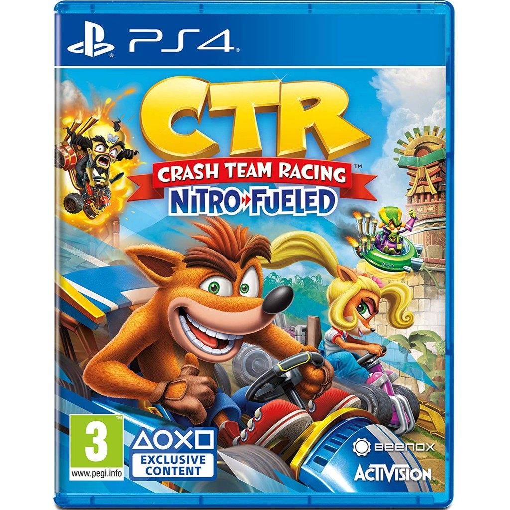 PS4 Crash Team Racing Nitro Fueled / PS4 Crash Bandicoot Racing / PS4 CTR  (English Version)