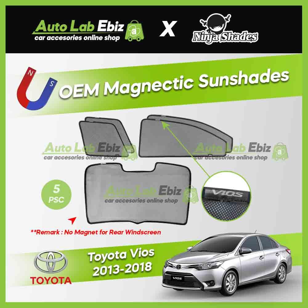 Toyota Vios 2013-2018 Ninja Shades OEM Magnetic Sunshade (5pcs)