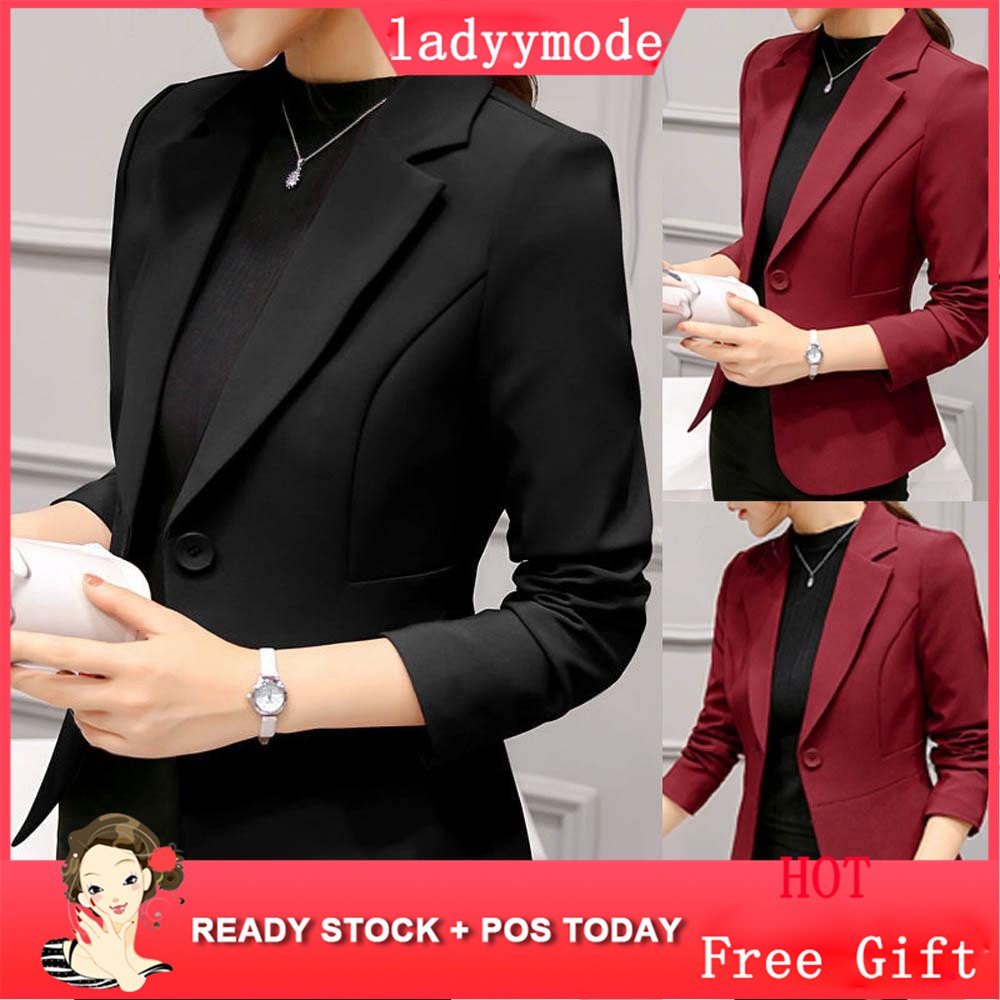 0a99cd5a13ea 🤩Chic Lapel Long Sleeve Leopard Women's Blazer | Shopee Malaysia