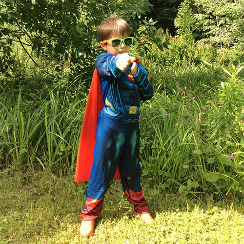 Super-man Muscle Kids Costume Pretend Play Cosplay