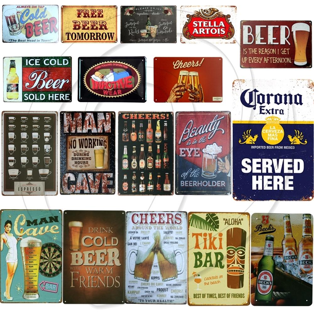 BEER GARDEN Sign Metel vintage retro look for Bar Restaurant