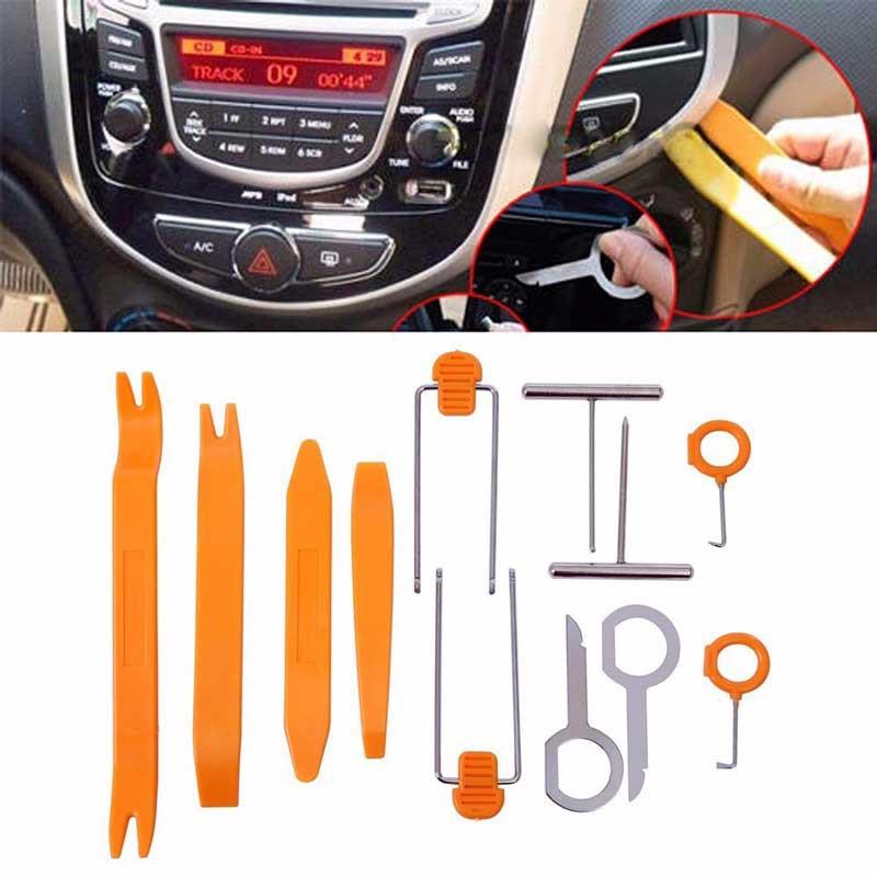 Cheap 12pcs Car Radio Stereo GPS DIY Trim KIT Dash Panel Install Removal Tools