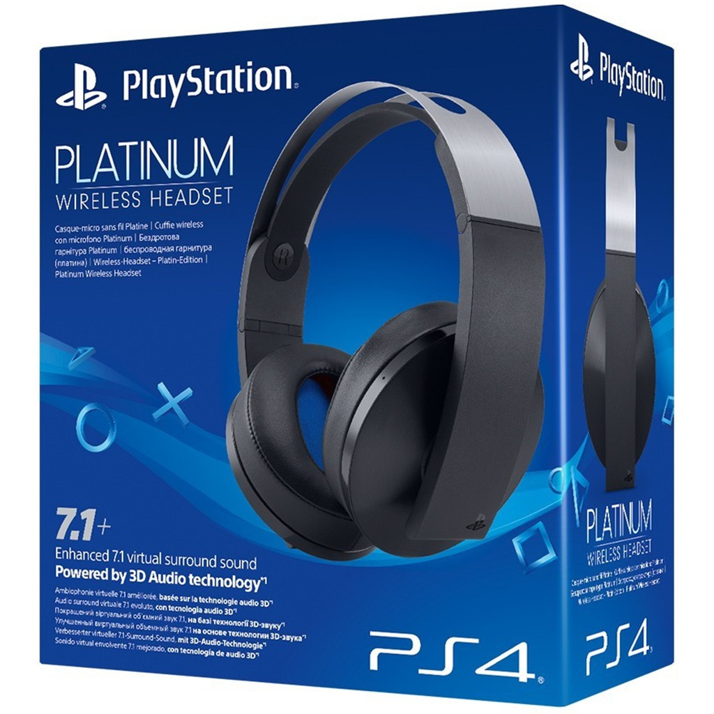 Sony PlayStation Gold Wireless Stereo Headset PS4 PS3 PS Vita PC Mobile  528f53ea13cb