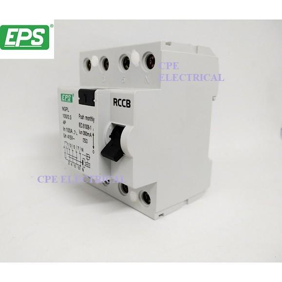 EPS 100A 4 POLE 100mA 300mA ELCB / RCCB