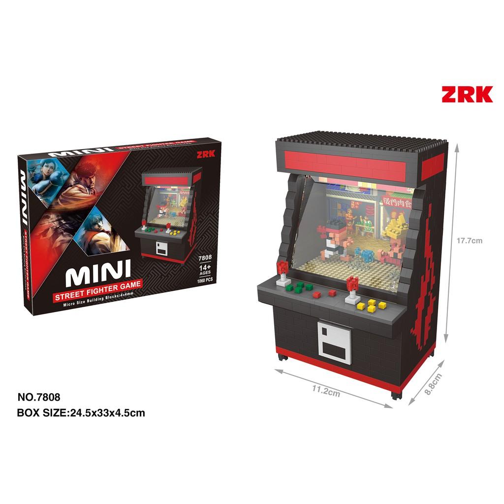 Mini Street Fighter Arcade Game Machine Diy Gift Lego Building Kit