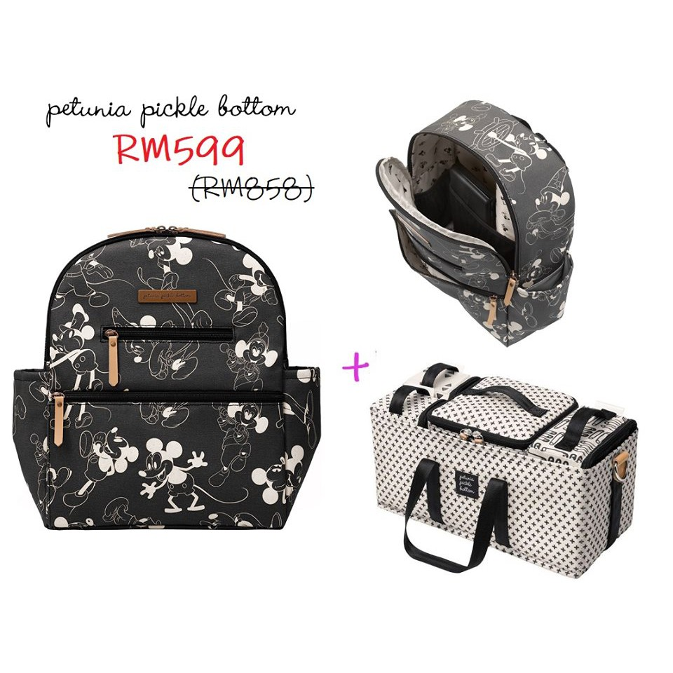 Petunia Pickle Bottom Ace Backpack Mickey's 90th FREE Grid Caddy Deluxe Kit
