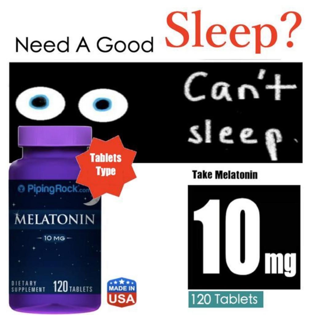 Need a good sleep? Melatonin 10 mg 120 Tablets (10mg 10000mcg) USA