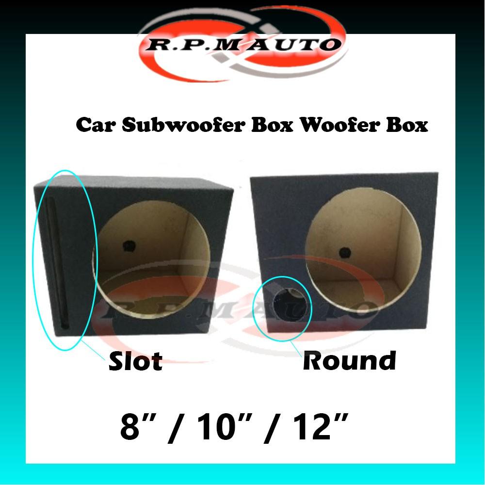"8"",10"",12"" inch SLOT /ROUND Car Subwoofer Box Woofer Box Vented Speaker Woofer Box Speaker Box Subwoofer"