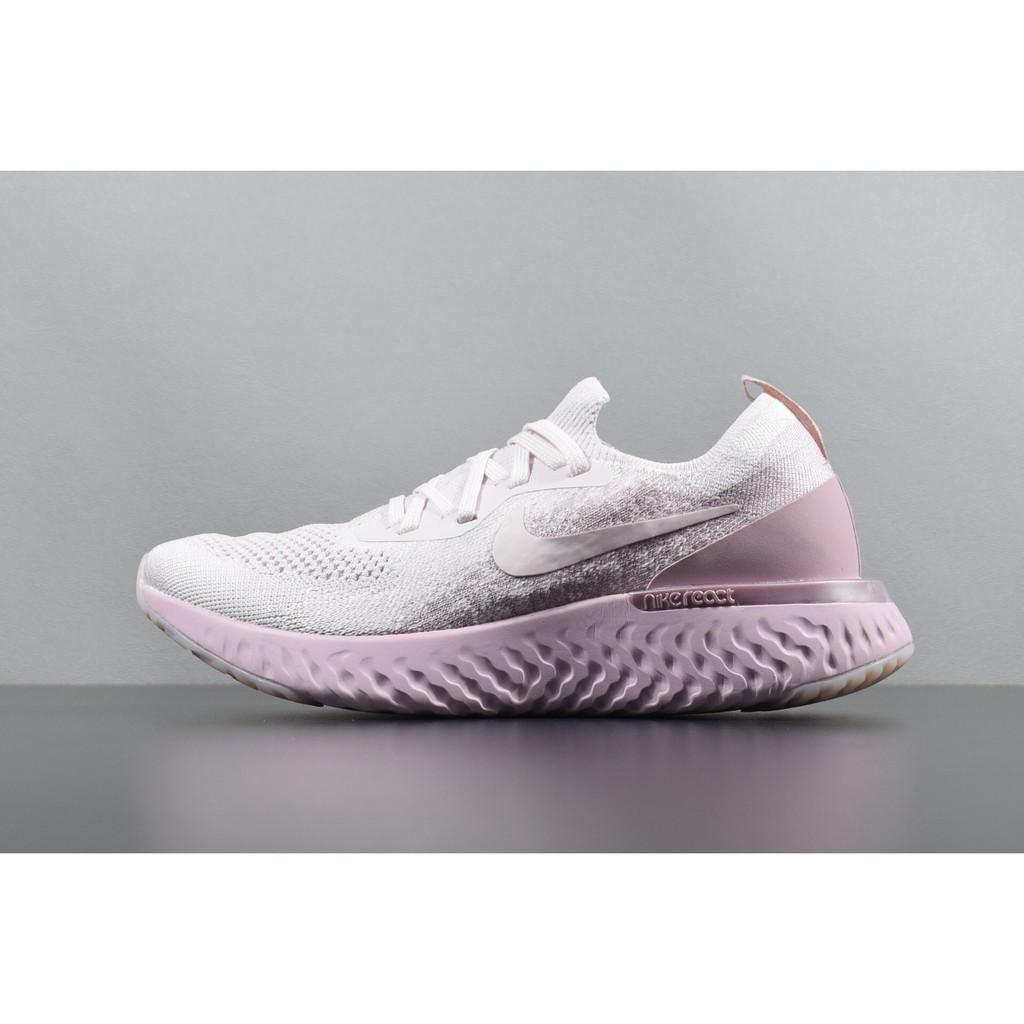 6bd04669710e0 In Stock Original Nike Epic React Flyknit Women Pink Running Shoes ...