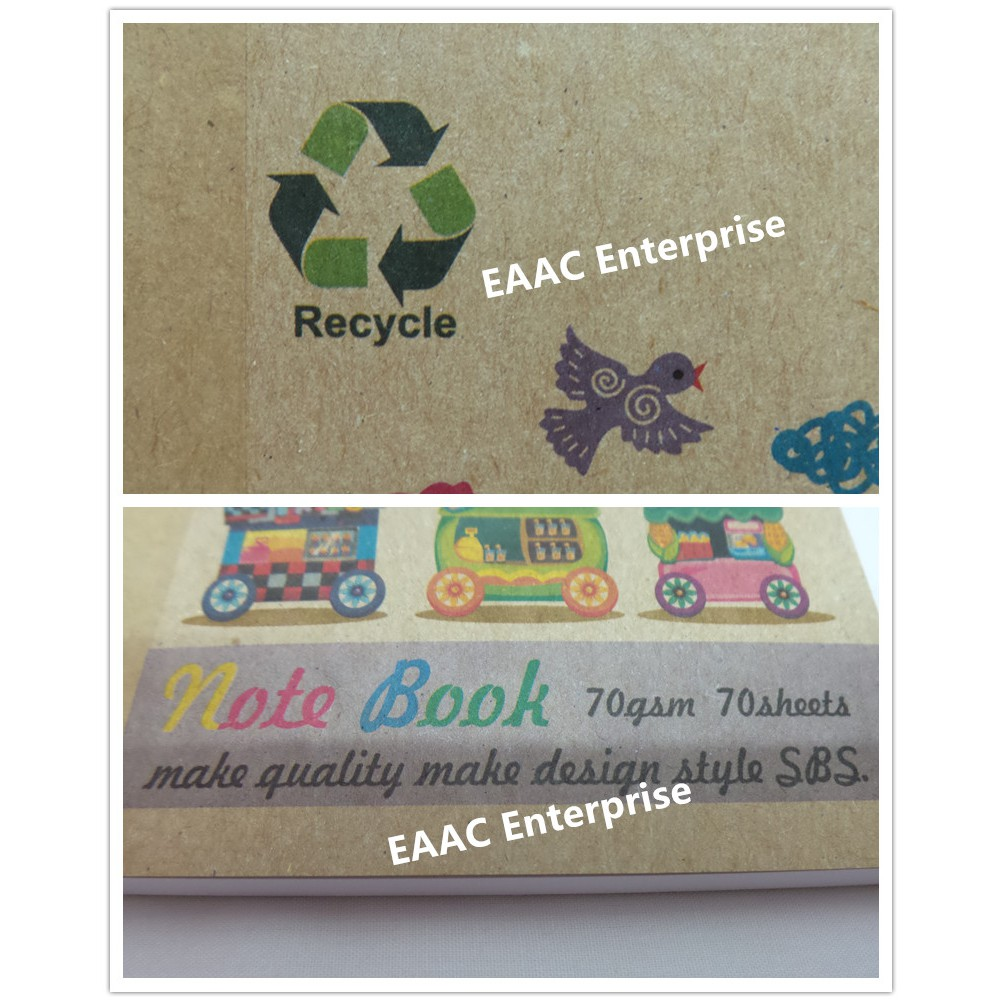 Recycle Paper A6 size Memo Pad Small Note Book 70g 70 Sheets