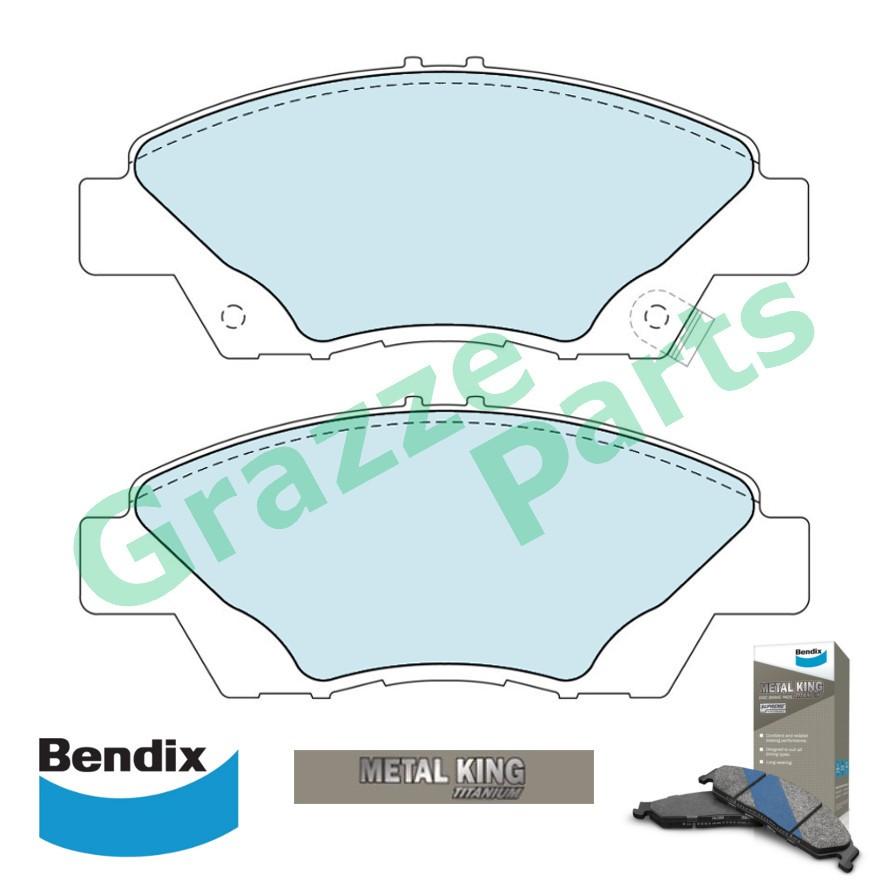 Bendix Metal King Brake Pad Front DB1991 - Honda City TMO T9A CRZ Jazz 2012