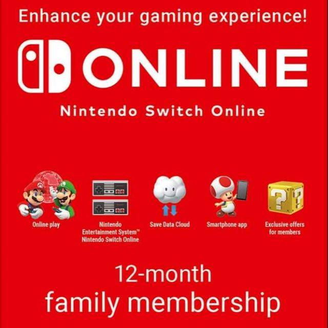 Nintendo Switch Online (1 year)