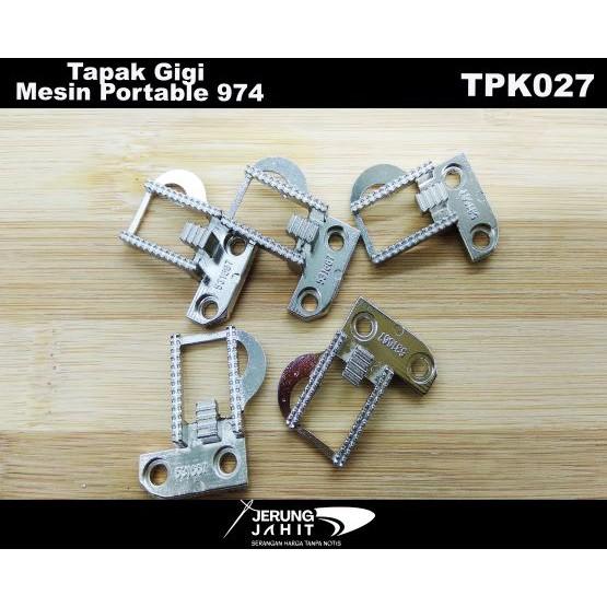 TAPAK GIGI MESIN PORTABLE SINGER  974 (FEED DOGS) - TPK027
