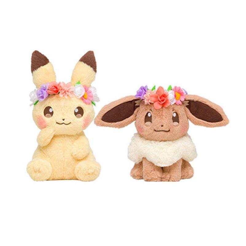 Christmas Eevee.Pokemon Fete Spring Eevee Pikachu Plush Doll Toy Christmas Gifts 7 Inch