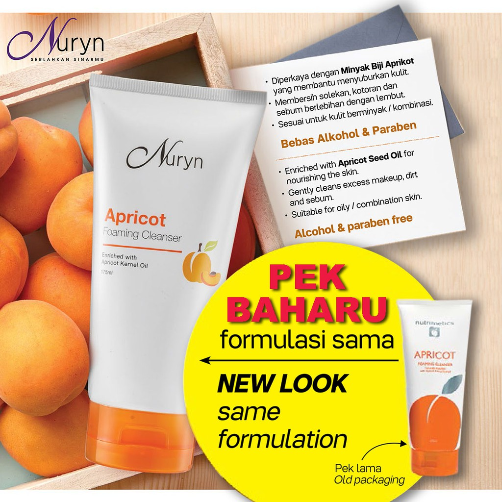 [New Packing] apricot foaming cleanser (1) 175ml [Buy More Save More] Expiry: Jan/2025