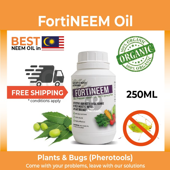 NEEM OIL Garden Pest Control Fortineem Oil (cold pressed neem oil) organic