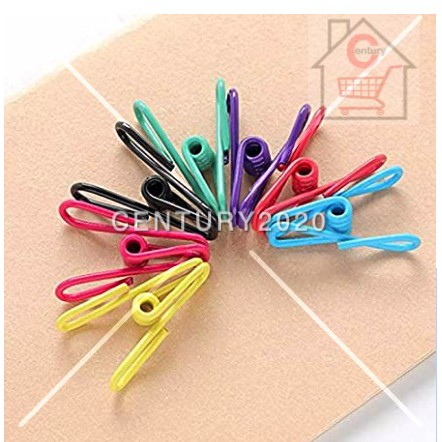 Clothesline Clothespin Bag Pack Utility Colorful Steel Wire Clips Daily Necessities Stationery Simple Tongs Peg 24 pcs