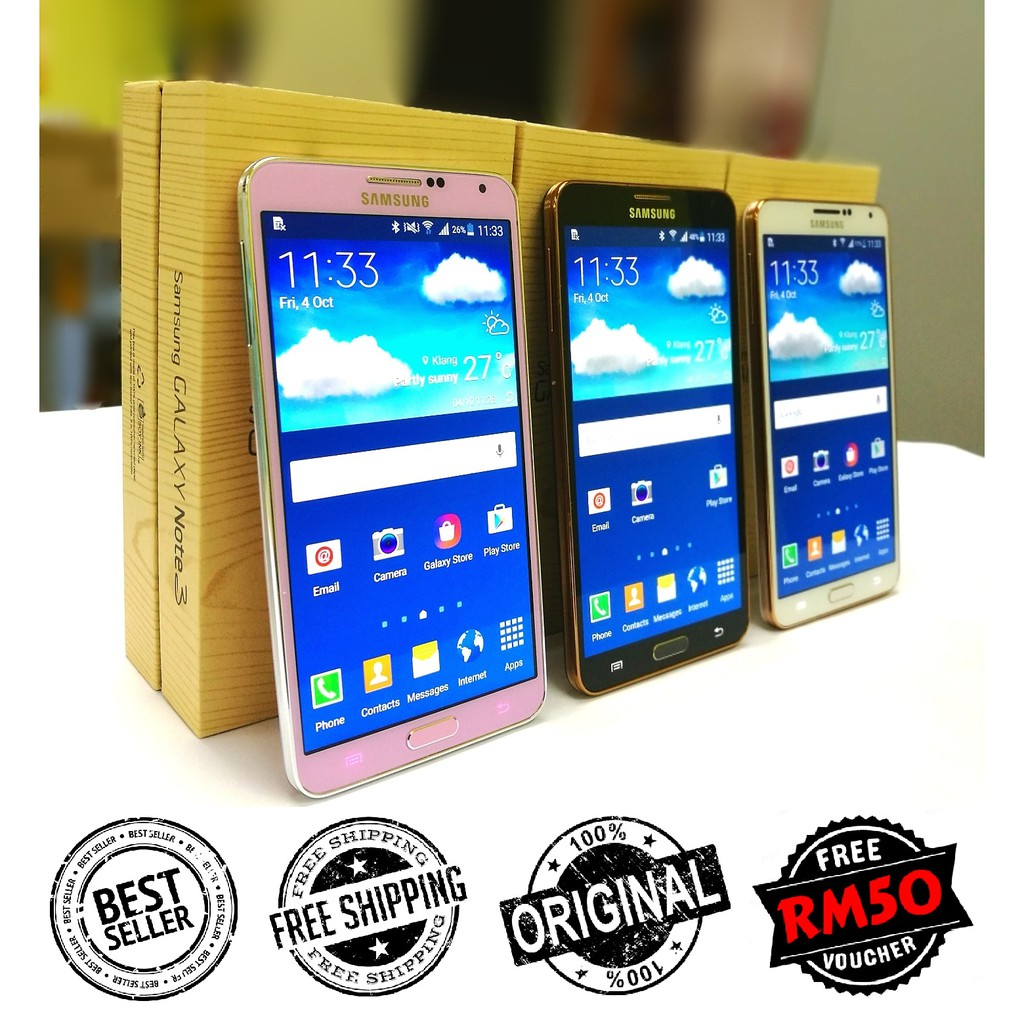 [RETRONS] Ori Samsung Note 3 N9000 3G | N9005 4G LTE [16GB | 32GB + 3GB RAM] Amoled HD LCD [Refurbished by Retrons]