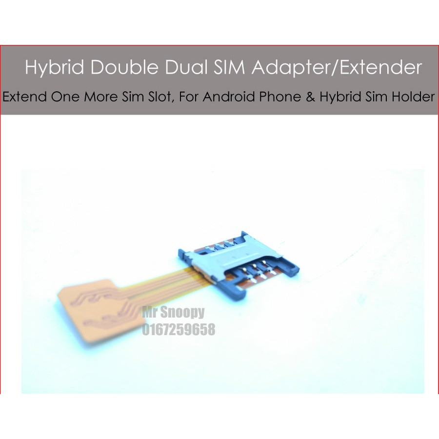 Dual Sim Card Extender, For Hybrid Sim Holder (Micro To Nano