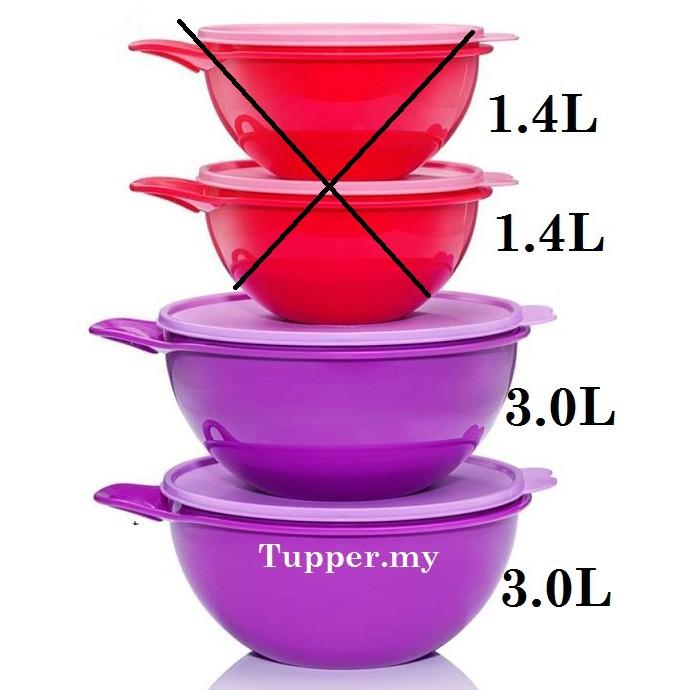 Tupperware That's Thats A Bowl Purple 3L