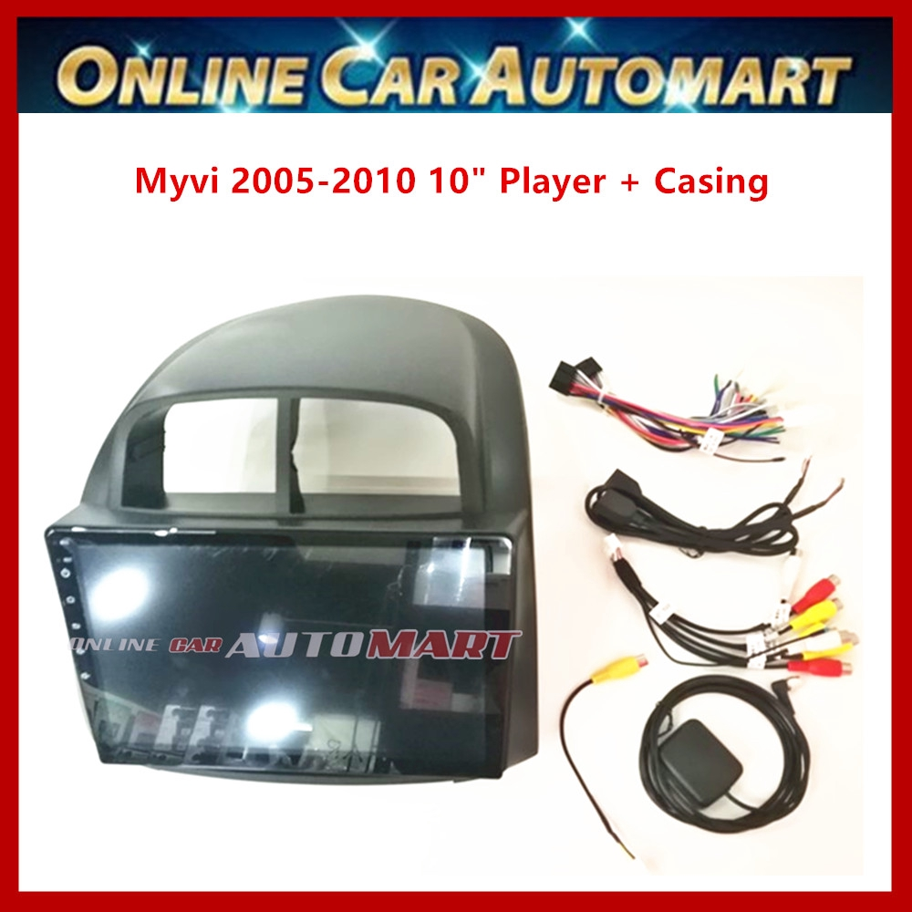 Perodua Myvi (2005-2010) 10.1 Inch Car Android Player Big Screen 2DIN Car Stereo With WIFI (1GB ram 16gb Rom )