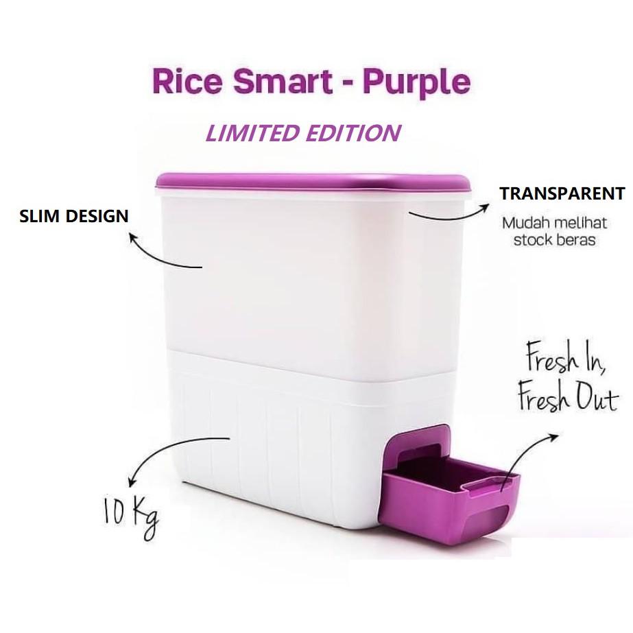 Tupperware Rice Dispenser Rice Smart - Purple  - 10kg  ♥️  ♥️