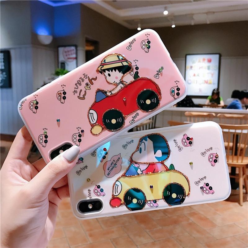 Casing Huawei Honor 20 Mate 20 P30 P20 Pro Nova 4 3 Case Cute 3D Crayon  Shin Chan Aesthetic Shockproof Soft Back Cover