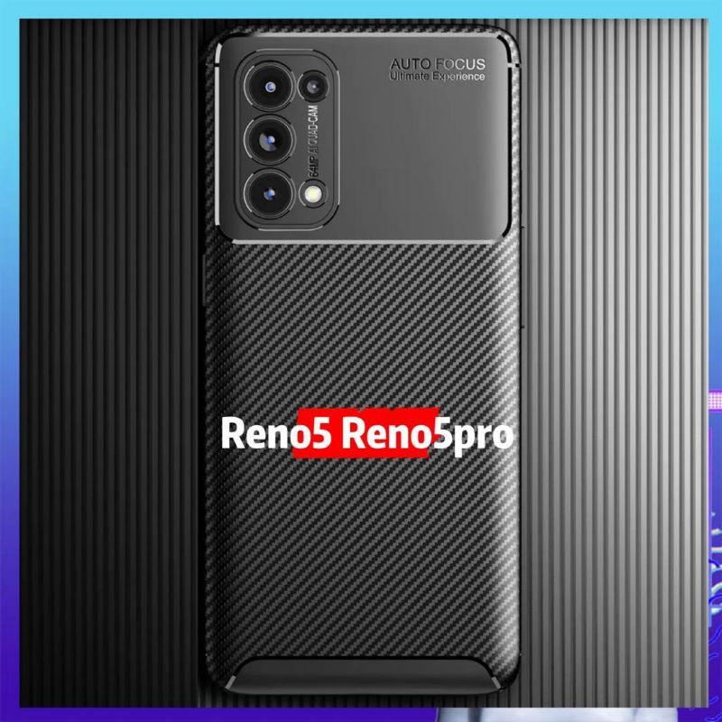 OPPO Reno 5 5G Reno 5 Pro 5G Carbon Fiber Drop-proof Soft TPU Matte Armor Cover for Reno 5 Pro Cover Case