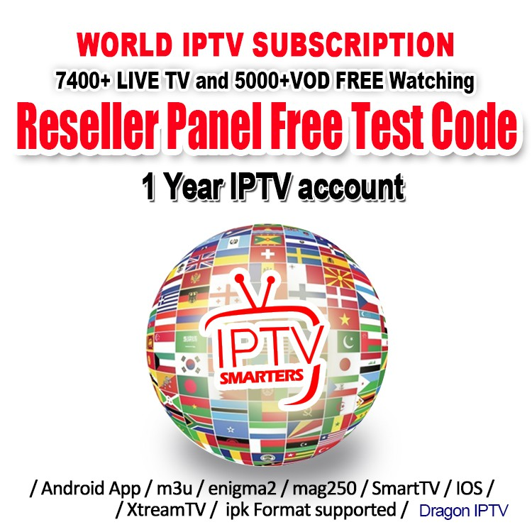 IPTV Smarters 7400+live TV and 5000+VOD Free Test Southeast Asia channel