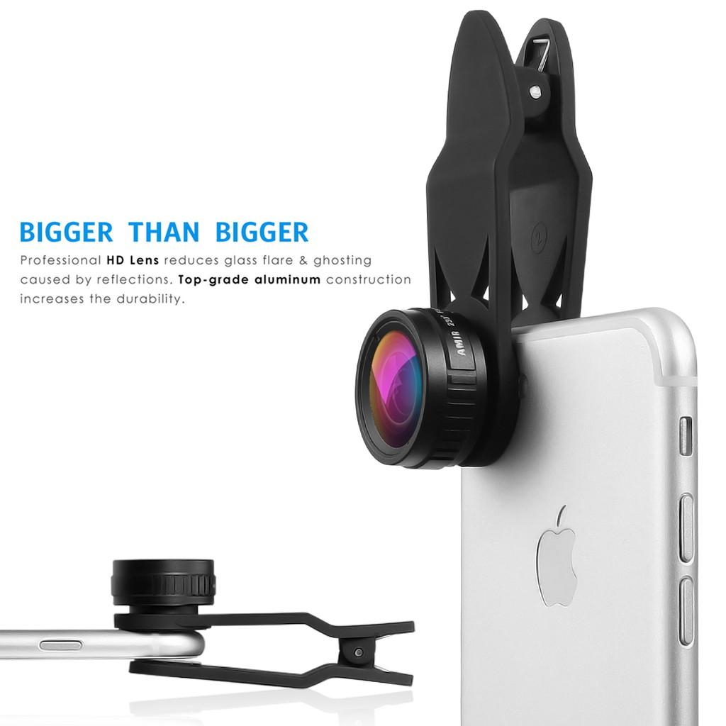 Upgraded Amir 3 in 1 HD Fisheye Lens & Macro Lens & Wide